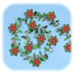 9' Contemporary Poinsettia Party Wire Garland