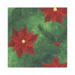 Contemporary Poinsettia Lunch Napkins - Pack of 16