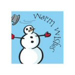 Snowman Beverage Napkins - Package of 16
