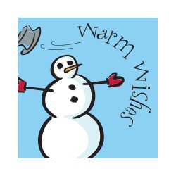 Snowman Lunch Napkins - Package of 16