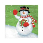 Snowman Greeting Luncheon Napkins - pkg. of 16
