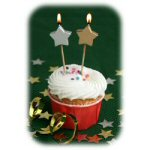 "3"" Stars Party Pick Candles - pkg. of 10"