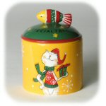 "5.5"" Cat Holiday Treat Canister"