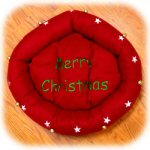 "23"" Red Merry Christmas Dog Bed"