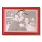 Red with Gold Foil Border Photo Card-Package of 25