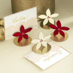 Poinsettia Placecard Holders - Set of Four