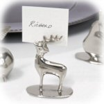 "2.5"" Reindeer Placecard Holder - Set of 4"