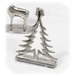 "3"" Christmas Tree Placecard Holder - Set of 4"