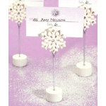 "4.5"" Snowflake Placecard Holders"
