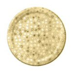 Prismatic Gold Star Dinner Plates - Set of 8