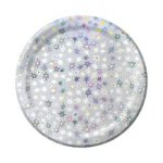 Prismatic Silver Star Dinner Plates - Set of 8