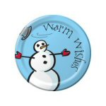 Snowman Lunch Plates - pkg. of 8
