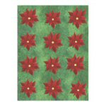 Contemporary Poinsettia Stickers - 4 Sheets