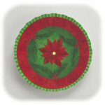 Contemporary Poinsettia Serving Tray - Set of 3