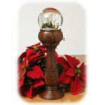 "14"" Pedestal Christmas Waterglobe With Sleigh"