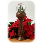 "14"" Pedestal Christmas Waterglobe With Church"