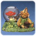 Cherished Teddies - Bear with Mushroom Snowglobe