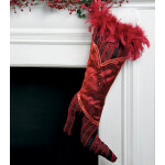 Red Feather High Heel Stocking - 22""