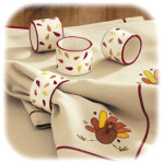 Autumn Leaves Napkin Rings - Set of 4