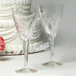 "8"" Torrent Crystal Water Goblets - Set of 2"