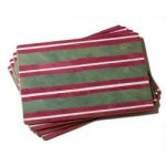 Holiday Stripes Placemat - Set of 4
