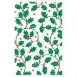 "40"" x 100' Holly & Berry Banquet Table Roll"