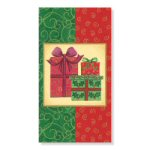 "54"" x 96"" Home for Christmas Plastic Tablecover"