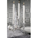 Clear Taper Candleholders - assorted set of 3