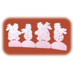 White Snowmen Tealight Holder