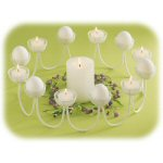 "15.5"" White Elite Egg Tea Light Ring"