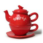 Floral Swag Rouge Tea for One - 4pc. Set