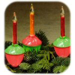 "5.5"" Red & Green Bubble Lights - String 7 Lights"