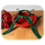 "23"" Red & Green Steel Christmas Tree Stand"