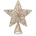 "12"" Gold Wire Star Christmas Tree Topper"