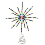Multicolor Beaded Star Tree Topper - 13.25""