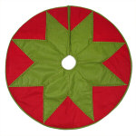 Red and Green Tree Skirt - 48""