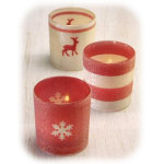 Sugared Votive Holders - Set of 3