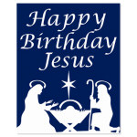 Happy Birthday Jesus Window Decoration - 14""