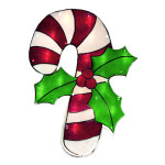 Candy Cane Window Decoration - 16""