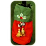Mary Engelbreit Holly Wine Bottle Bag