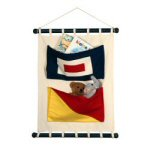 Two Pocket Canvas Flag Wall Hanging