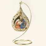 Cloisonné Holy Family Ornament - 4.5""