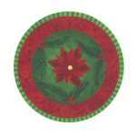 Contemporary Poinsettia Coasters - Set of 4