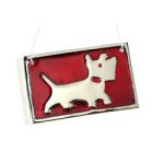 "3"" x 2"" Personalized Red Dog Ornament"