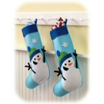 "17.75"" Chilly Chaps Snowman Stocking"