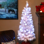 Fiber Optic White Christmas Tree 5 Foot Tall