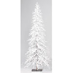 7 ft. Prelit Flocked Alpine White Christmas Tree