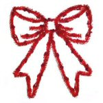 "19"" 50-Light Red Festoon Bow"