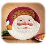 "8"" Winter At Home Santa Plate"