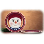 "8"" Winter At Home Snowman Plate"